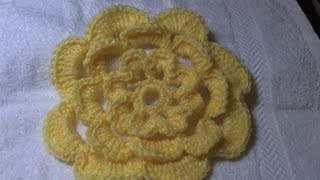 How to crochet a flower tutorial /  Cabbage Rose