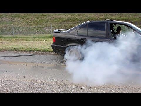 BMW E36 325i 192HP  Palenie Gumy  Burnout