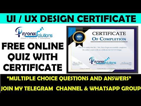 ISO Certified UI / UX Design Free Quiz With Certificate | Online Quiz ...