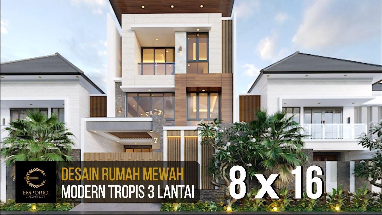 Video 3D Desain Rumah Modern 3 Lantai Ibu Iyus di Jakarta
