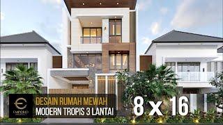 Video Desain Rumah Modern 3 Lantai Ibu Iyus di  Jakarta