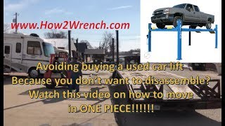 How To Move A Car Move A 4 Post Car Lift In One Piece! Don't Be Afraid To Buy Now!