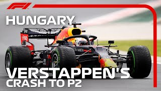 Max Verstappen Crashes On Way To Grid | 2020 Hungarian Grand Prix