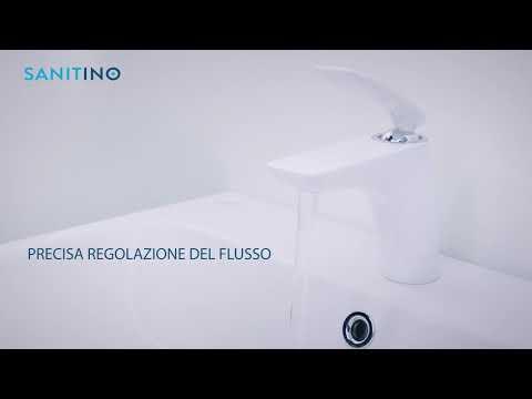 Kludi Balance - Miscelatore monocomando per lavabo, bianco/cromato 520269175
