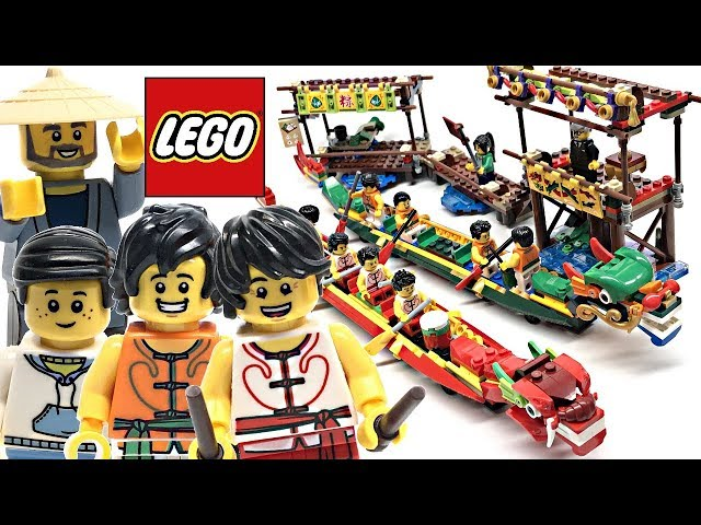 LEGO Dragon Boat Race Chinese Festival review! 2019 set 80103!