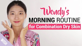 Morning Skincare Routine for Glowing Skin All Day | Combination Dry Skin