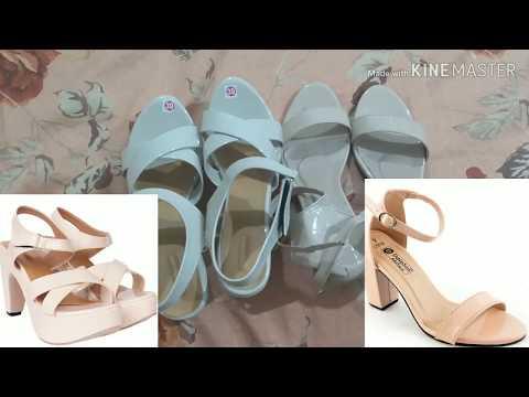 Flipkart heels haul/try on|Flipkart footwear review|High heels sandals for girl
