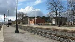 preview picture of video '30 11 2008 El talgo de Extremadura por Villaluenga y Yuncler'