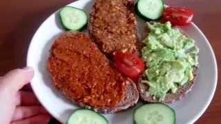 DREI VEGANE AUFSTRICHE mit Avokado, Tomaten und Nüssen - vegane Rezepte CANANS REZEPTE