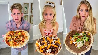 Making The World's GROSSEST Pizza Then Eating It!!! - Challenge