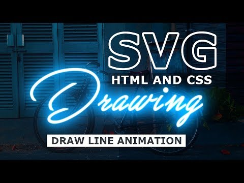 SVG line drawing animation | SVG Stroke Animation With Html and CSS
