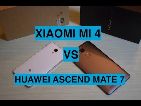 Foto Xiaomi Mi4 vs Huawei Ascend Mate 7