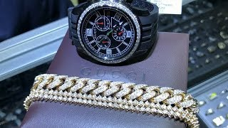 Diamond Bracelet & Gucci Watch Video Review TraxNYC
