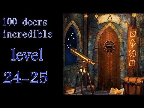 100 doors incredible,Walkthrough/Невероятный мир прохождение level-24-25