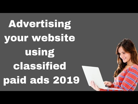 Advertising your website using classified paid ads 2019