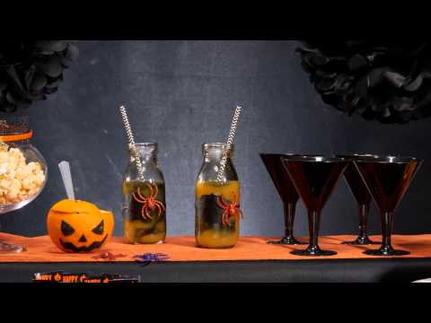 Oranje Halloween cocktail