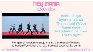 EXO CBX - HEY MAMA! [MV, EASY LYRIC, LIRIK INDONESIA]