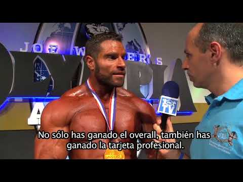 Interview David Hoffmann. Overall of Bodybuilding Olympia Spain 2015