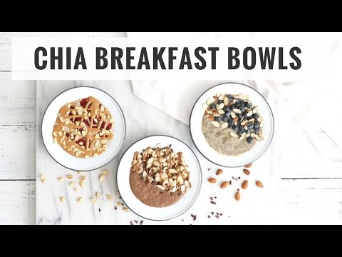 Video 3 Chia Pudding Breakfast Bowls! Quick & Healthy Recipes | Healthy Grocery Girl