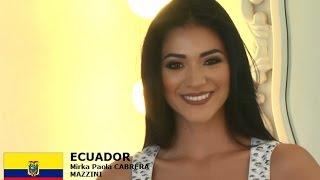 Mirka Paola Cabrera Mazzini Contestant from Ecuador for Miss World 2016 Introduction