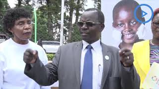 Governor John Lonyangapuo gives donations to landslides victim in