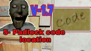 Padlock code locations in granny || Trick to find padlock in granny v-1. 7