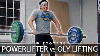 Powerlifter Trying Olympic Weightlifting (Spoiler: It