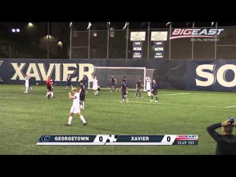 Men's Soccer |  No. 16 Georgetown vs No. 20 Xavier Highlights | 2015