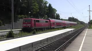 preview picture of video 'Zugkreuzung Bahnhof Pfaffenhofen (Ilm) 30.06.2012 zweier Doppelstockzüge'