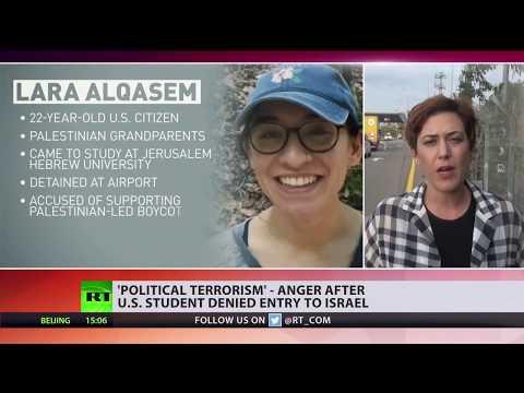 Tel Aviv holding US student who allegedly supported anti-Israeli boycott movement