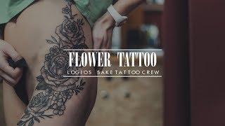 Flower Tattoo By Logios SakeTattooCrew