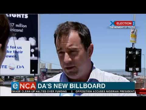 DA's new billboard tackling load shedding