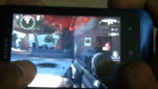 preview picture of video 'Xperia tipo Modern Combat 4 smooth gameplay'