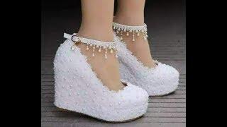 أجمل كولكشن أحذية زفاف للعرائس بيضاء لزفاف سعيد2018