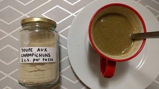 Soupe deshydratée aux champignons