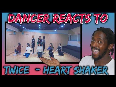 "DANCER REACTS TO TWICE ""Heart Shaker"" Dance Video (Practice Room Ver.) | Heart Shaker dance practise"