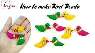 How To Make Bird Bead With Fabric
