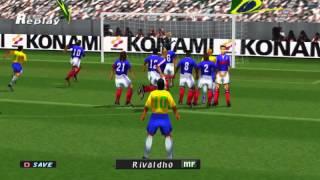 Free Kick compilation on PS1 iss pro evolution2 - Beckham,Del Piero,Recoba, Carlos,Rivaldo