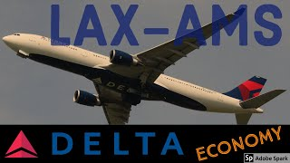 FLIGHT REPORT | Los Angeles to Amsterdam | Delta Airlines ECONOMY AIRBUS A330-300 | FlyWithMe! ATC