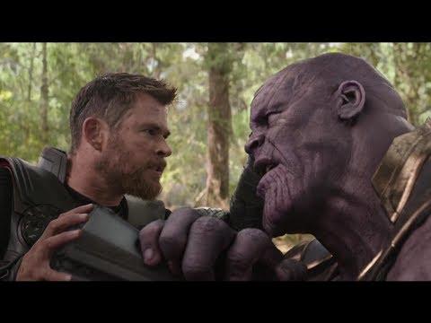 Thor vs Thanos Wakanda Battle Scene (HD)   Avengers Infinity War Clip (Digital)