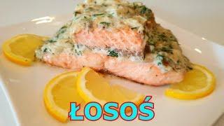 Pyszny ŁOSOŚ smażony + łatwy i szybki sos koperkowy - obiad w 20 minut