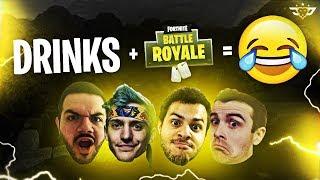 DRINKS + FORTNITE = NEVER ENDING LAUGHS (Fortnite: Battle Royale)