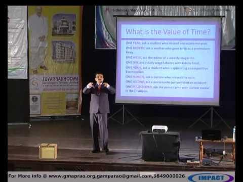 Time Management|Uday Kumar|TELUGU IMPACT Hyd 2012