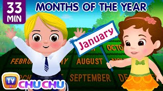 Months of the Year Song - January, February, March and More Nursery Rhymes for Kids by ChuChu TV