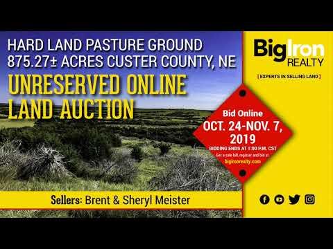 Land Auction 875.24+/- Acres Custer County, Nebraska