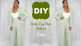 EASY DIY Wide Leg Pant Pattern L Ty Kent