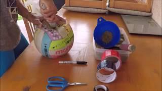 DIY Medicine Ball, Pelota Medicinal Casera