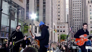 Crowd Singing Sign Of The Times By Harry Styles On Today Show During Sound Check