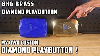 Casting Brass Diamond Playbutton YouTube Award From Bullet Shells - Video Youtube