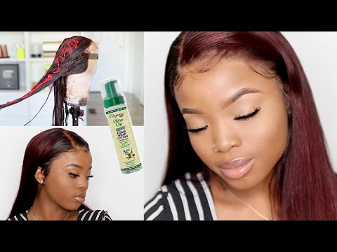 How I lay & Color my Wig like an Instagram stylist || No Chemical Damage ft. Nadula Hair